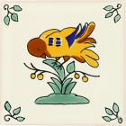 Eating Bird Talavera Mexican Tile