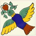Colorful Bird Talavera Mexican Tile