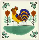 Rooster Talavera Mexican Tile
