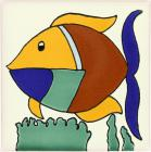 Colorful Fish Talavera Mexican Tile