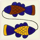 Double Fish Talavera Mexican Tile