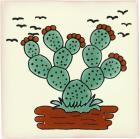 Nopal 2 Talavera Mexican Tile
