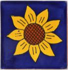 3x3 Sunflower 1 - Talavera Mexican Tile by Size