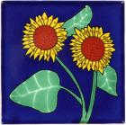 Sunflower 4 Talavera Mexican Tile