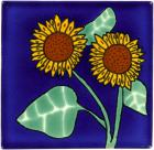 3x3 Sunflower 4 - Talavera Mexican Tile by Size