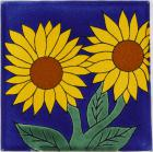 Sunflower 5 Talavera Mexican Tile
