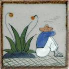 Man and Agave Tenampa Ceramic Tile