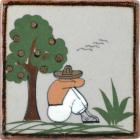 Man with Agave and Tree Tenampa Ceramic Tile