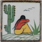 Woman and Cactus 2 Tenampa Ceramic Tile