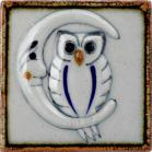 Owl and Moon Tenampa Ceramic Tile