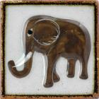 Elephant Tenampa Ceramic Tile