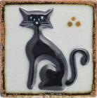 Black Cat Tenampa Ceramic Tile