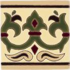 Olive Alcazar 1 Gloss Border Santa Barbara Ceramic Tile