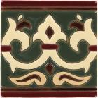 Olive Alcazar 2 Gloss Border  Santa Barbara Ceramic Tile