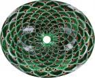 Green Peacock Talavera Ceramic Oval Drop In Bathroom Sink