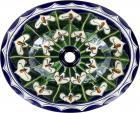 Callalilies Talavera Ceramic Oval Drop In Bathroom Sink