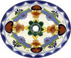 Grace Talavera Ceramic Oval Drop In Bathroom Sink