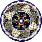 San Miguel - Talavera Ceramic Round Drop-In Bathroom Sink