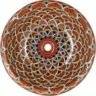 Peacock Terra Cotta - Talavera Ceramic Round Drop-In Bathroom Sink