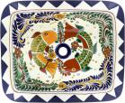 Cabo - Talavera Rectangular Drop-In Bathroom Sink