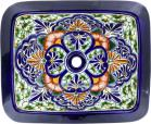 Sardinia - Talavera Rectangular Drop-In Bathroom Sink