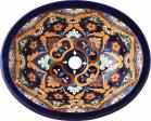 14x17 La Ventilla Mexican Hacienda Ceramic Oval Drop-in Bathroom Sink