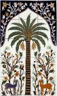 Persian Palm Tree Santa Barbara Hand Painted Tile Mural