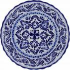 12 in. Puebla Classic Ceramic Talavera Scalloped Plate N. 6