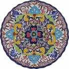 12 in. Puebla Classic Ceramic Talavera  Scalloped Plate N. 7