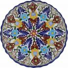 12 in. Puebla Classic Ceramic Talavera Scalloped Plate N. 8