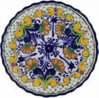 12 in. Puebla Classic Ceramic Talavera Scalloped Plate N. 2