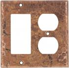 Natural Rocker/Outlet - Copper Switchplate