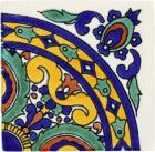 Quarter Isola 1 Handmade Siena Vetro Ceramic Tile