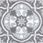 8.25 x 8.25 Santillana 2 with Snow White Sevilla Handmade Ceramic Floor Tile