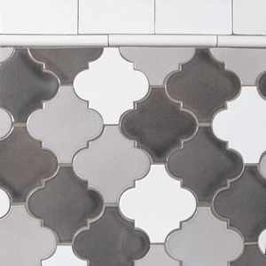 Moroccan inspired ceramic tiles